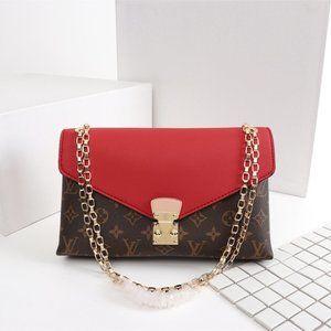 Louis Vuitton Pallas Clutch Monogram Crossbody Bag